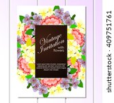 romantic invitation. wedding ... | Shutterstock . vector #409751761