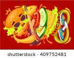 funny vector illustration...   Shutterstock .eps vector #409752481