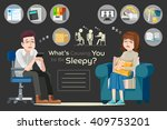 people tired because hard work. ... | Shutterstock .eps vector #409753201