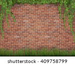 rural background. ivy and grass ... | Shutterstock .eps vector #409758799