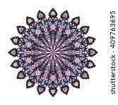 round mandala. arabic  indian ... | Shutterstock .eps vector #409763695