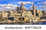 panoramic view of valletta .... | Shutterstock . vector #409778629