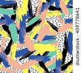 brush stroke seamless pattern.... | Shutterstock .eps vector #409778641