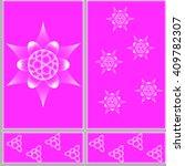 floral design pattern ceramic... | Shutterstock .eps vector #409782307