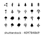 trees vector icons 2 | Shutterstock .eps vector #409784869