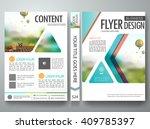 flyers design template vector.... | Shutterstock .eps vector #409785397