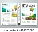 flyers design template vector.... | Shutterstock .eps vector #409785505