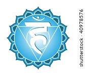 chakra series  vishudha or... | Shutterstock . vector #40978576