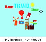 travel tourism world vacation... | Shutterstock . vector #409788895
