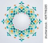 arabic pattern circle geometric ...   Shutterstock .eps vector #409798285