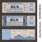 summer invitation template.... | Shutterstock .eps vector #409800844