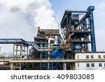 industrial cooling tower of... | Shutterstock . vector #409803085