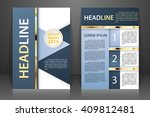 abstract vector modern flyers... | Shutterstock .eps vector #409812481