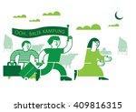 balik kampung means journey...   Shutterstock .eps vector #409816315