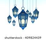 arabic ramadan lantern   3d...   Shutterstock . vector #409824439