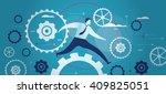 business mechanism in motion | Shutterstock .eps vector #409825051