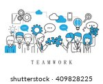 teamwork concept  business... | Shutterstock .eps vector #409828225