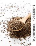 aromatic natural caraway seeds... | Shutterstock . vector #409830841