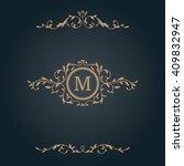 elegant floral monogram design...   Shutterstock . vector #409832947