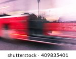Abstract Image Of Bus In Motio...