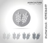 agriculture outline icon set ... | Shutterstock .eps vector #409836649