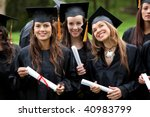 Group Of Graduation Students...