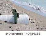 Beach Erosion Control - stock photo