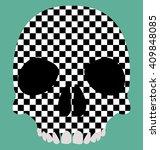 skull racing flag   Shutterstock .eps vector #409848085