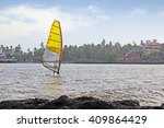 Windsurfer At Dona Paula Bay I...