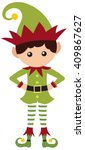 elf boy | Shutterstock .eps vector #409867627