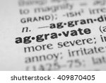 Small photo of Aggravate