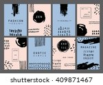 trendy minimal cards design... | Shutterstock .eps vector #409871467