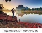 krabi   ban nong thale   april... | Shutterstock . vector #409894945