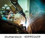 welding robots represent the... | Shutterstock . vector #409901659