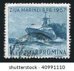 romania   circa 1957  romanian... | Shutterstock . vector #40991110