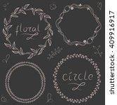 floral circle ornament set | Shutterstock .eps vector #409916917