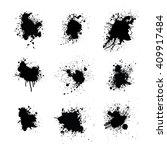 splatters set. | Shutterstock . vector #409917484