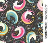 seamless pattern with cute... | Shutterstock .eps vector #409920379