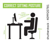 correct sitting posture correct ... | Shutterstock . vector #409920781