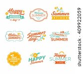summer design elements and... | Shutterstock .eps vector #409922059