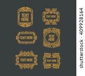 classic art deco luxury minimal ... | Shutterstock .eps vector #409928164