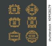 classic art deco luxury minimal ... | Shutterstock .eps vector #409928179