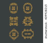 classic art deco luxury minimal ... | Shutterstock .eps vector #409928215