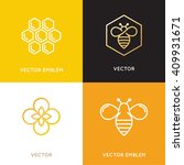 vector logo and packaging... | Shutterstock .eps vector #409931671