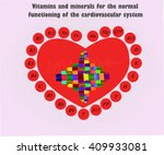 vitamins and minerals for the... | Shutterstock .eps vector #409933081
