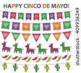 cinco de mayo vector bunting... | Shutterstock .eps vector #409936249