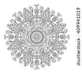 beautiful ethnic mandala.... | Shutterstock .eps vector #409941019