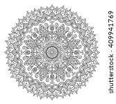 vintage mandala. vector round... | Shutterstock .eps vector #409941769