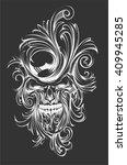 floral skull | Shutterstock .eps vector #409945285