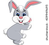 illustration of cute rabbit... | Shutterstock .eps vector #409949695